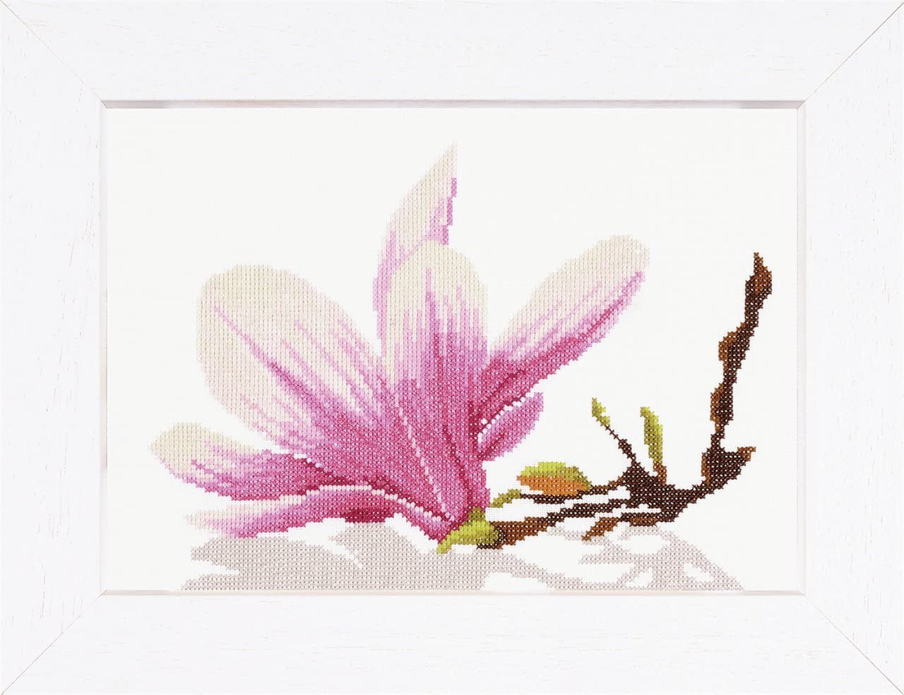 All items free shipping Lanarte 2021 Counted Cross Stitch Kit: Flower Twig Magnolia with Aid