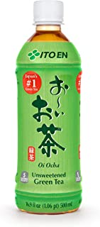 Ito En Oi Ocha Green Tea, Unsweetened, 16.9 Fluid Ounce (Pack of 12), Unsweetened, 5 Calories, with Antioxidants, Excellent Source of Vitamin C