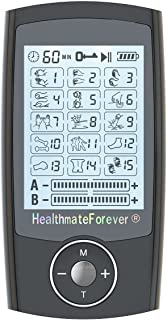 [2nd Edition with Wireless Access] HealthmateForever TENS Unit Pro15AB (Black) 2in1 Double Value 15 Modes Best electrotherapy Device, Electronic Pulse Device, Portable Impulse Palm Machine