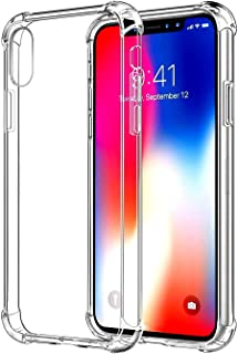 """CaseHQ Crystal Clear Case Compatible with iPhone Xs Max 2018 (6.5""""),TPU Enhanced Drop Protection,Slim Protective Cover with Reinforced Corner Bumpers, Flexible Soft TPU Anti-Scratch Shock Absorption"""
