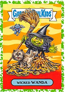 2018 Topps Garbage Pail Kids Oh The Horror-ible Classic Film Monster Stickers Puke #15A WICKED WANDA Collectible Trading Card Sticker