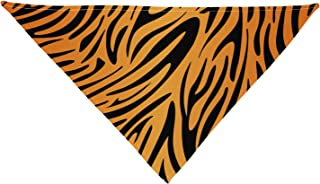 Tiger Print Printed White Dog Bandana 26