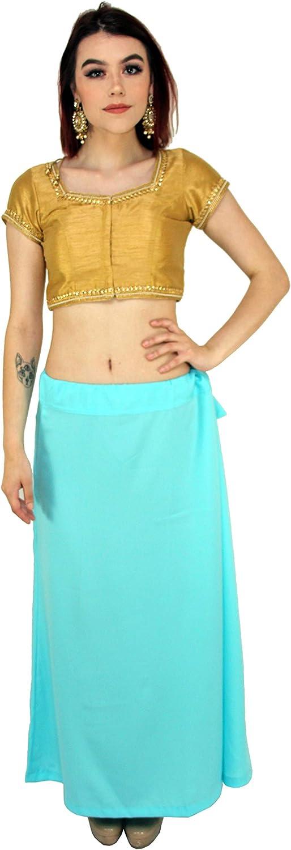 Multiple Colors - Sari Petticoat Stitched Indian Saree Petticoat Adjustable Waist Sari Skirt