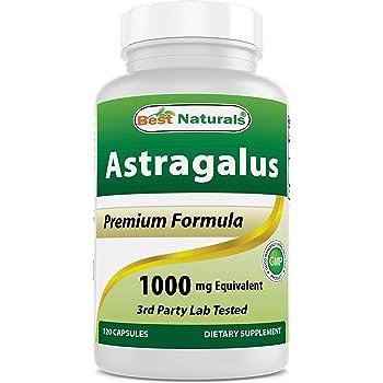 Best Naturals Astragalus Capsule, 1000 mg, 120 Count