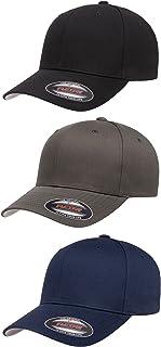 2-Pack Premium Original Cotton Twill Fitted Hat w/THP No Sweat Headliner Bundle