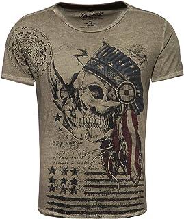 KEY LARGO MT INDIAN SKULL heren t-shirt