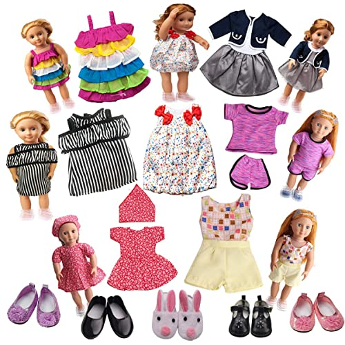 Vintage Black Bow Shoes for 18 Inch Girl Doll Party Accessories