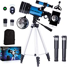 FREE SOLDIER Telescope for Kids&Astronomy Beginners - 70mm Aperture Refractor Telescope for Stargazing With Adjustable Tri...