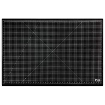 Breman Precision Self Healing Cutting Mat - 58x38 Inches Sewing Craft Quilting Fabric Rotary Cutting Mat - Perfect for Crafters Hobbyists and Artists - 2 Sided 5 Ply PVC Craft Mat with Grid Lines