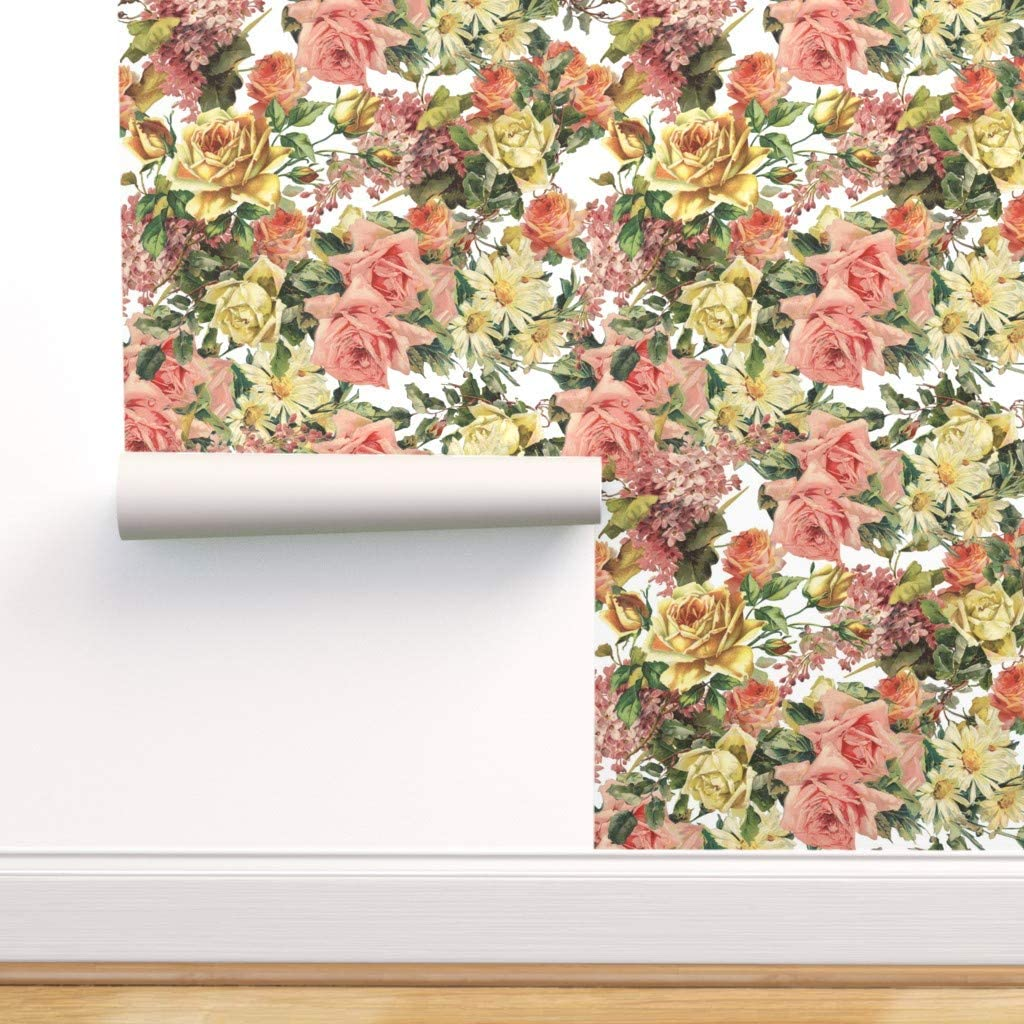Removable Water-Activated Wallpaper - Flower Floral Bota Blossom Ranking TOP2 shop