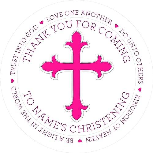 Eternal Design 24 x 45mm Christening Day White Stickers CDCS 10