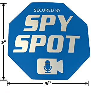 "Spy Spot ADT Style Vinyl Window Stickers 6 Pack Double Sided 3"" x 3"" Alarm Security"