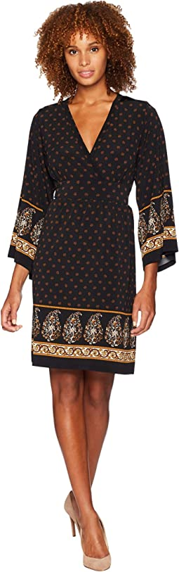 Paisley Garden Deep Vee Dress