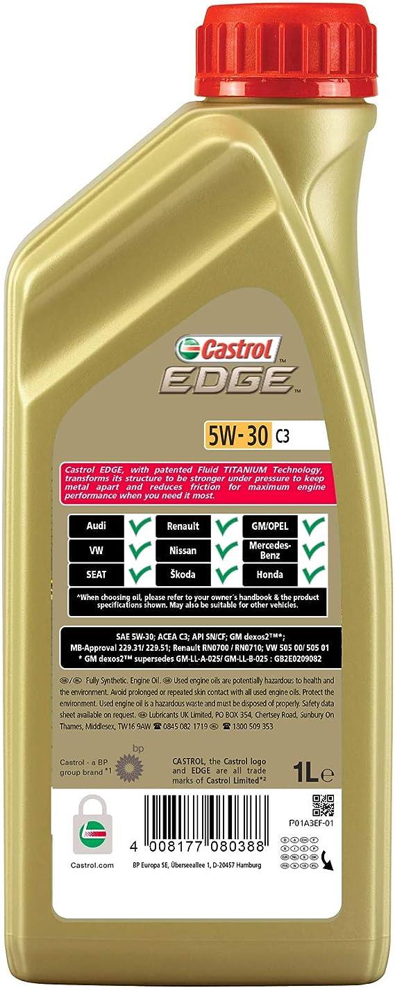 Castrol Edge 5w 30 C3 Engine Oil 5l Auto