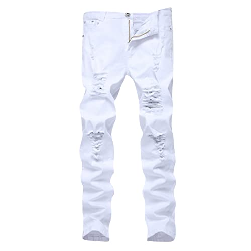 get new unequal in performance latest White Ripped Jeans: Amazon.com