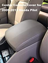 Center Console Cover for 2009-2015 Honda Pilot Armrest Cover Replacement Leather Console Lid