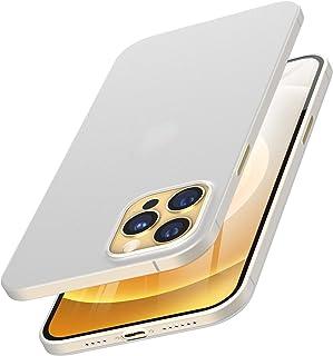 TOZO kompatibel für iPhone 12 Pro Max Hülle 6.7 Zoll, Ultradünne Hartschale 0,35 mm Weltweit Dünnste Protect Bumper Slim Fit Shell Semi Transparent Leichtgewicht mit Matt Fertig Weiß