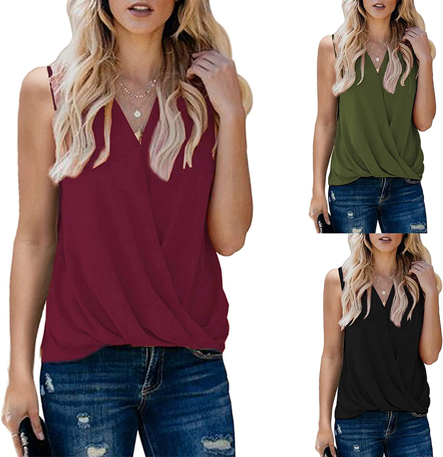 Max 59% OFF Tank Tops for Womens Summer Clothes Shirt Sol Bombing new work Casual V-Neck