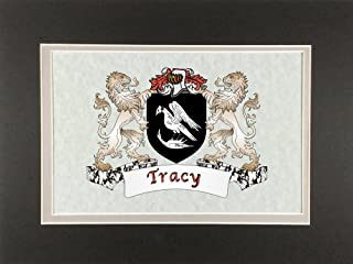 Tracy Irish Coat of Arms Print - Frameable 9