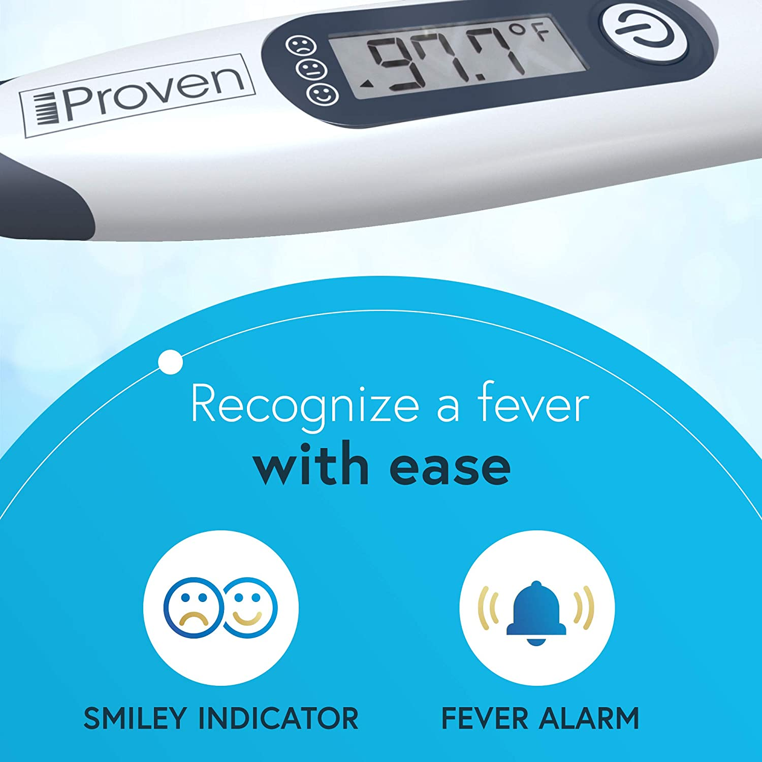 iProven Dt-R1221AWG Medical Thermometer, Oral & Rectal Thermometer with Fever Indicator
