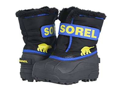 SOREL Kids Snow Commander (Toddler/Little Kid) (Black/Super Blue 1) Boys Shoes