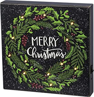 Primitives by Kathy Merry Christmas LED Box Sign