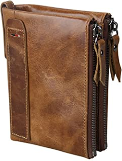 Women RFID Blocking Wallet Small Vintage Cowhide Leather Wallet For Women