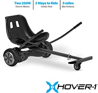 Hover-1 Freedom Electric Hoverboard Scooter and Go-Kart Attachment Combo (2 piece set)