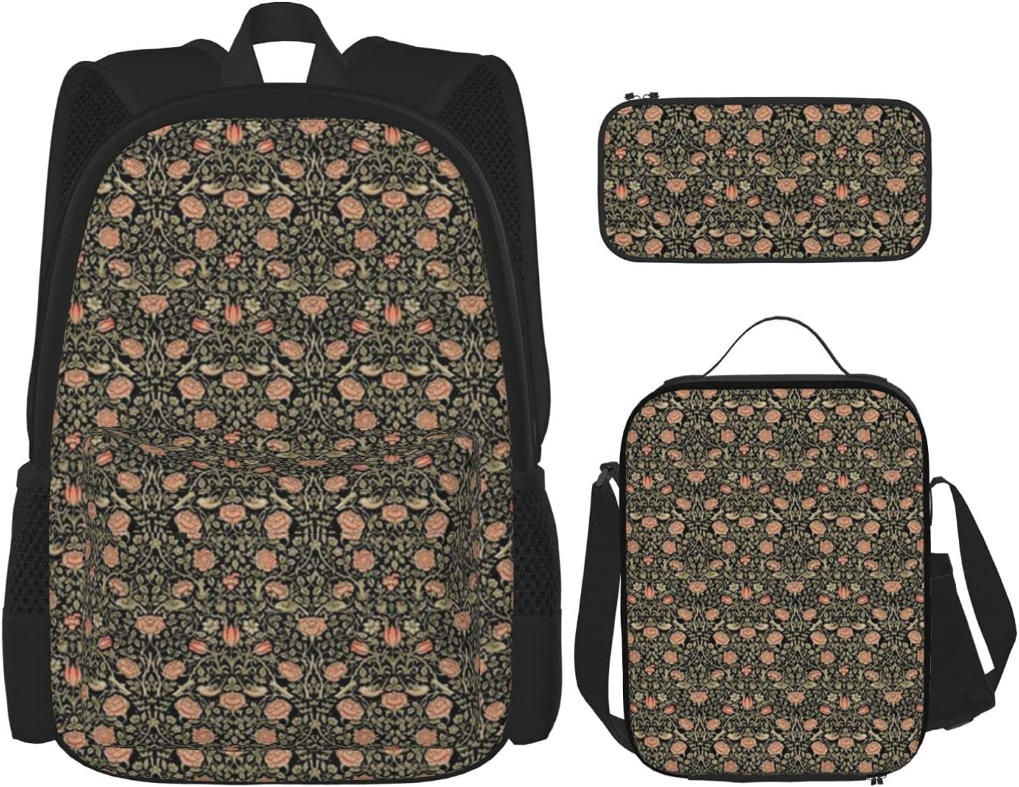 Backpack Sale Bags Tiny Tudor Roses Black quality assurance Pencil Bag C with Lunch
