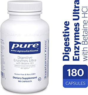 Pure Encapsulations - Digestive Enzymes Ultra with Betaine HCl - Comprehensive Blend of Vegetarian Digestive Enzymes with Betaine HCl - 180 Capsules