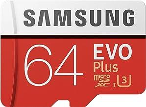 Samsung EVO Plus 64GB microSDXC UHS-I U3 100MB/s Full HD & 4K UHD Memory Card with Adapter (MB-MC64HA)