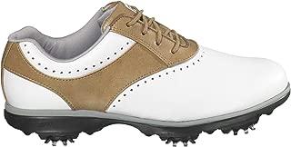 Women's eMerge Closeout Golf Shoes 93900 (White/Tan, 6)