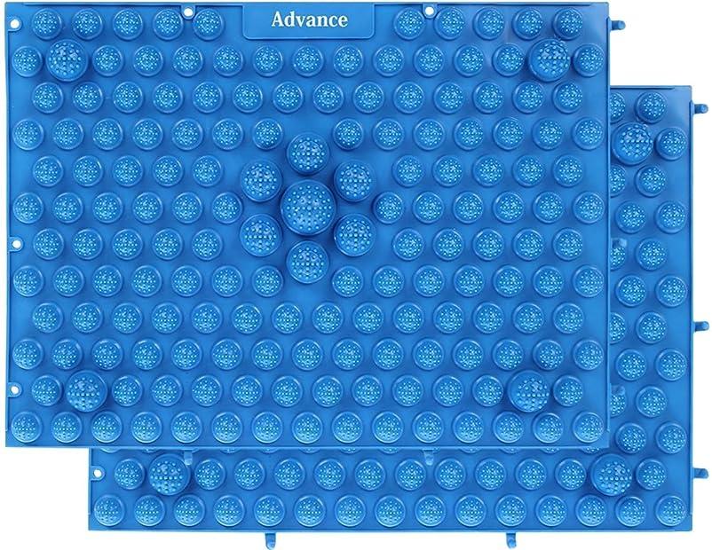 吸収剤削る関連する[OneStepAdvance] 足つぼ健康マット 足踏みマッサージ 37×27cm 2枚セット (ブルー)