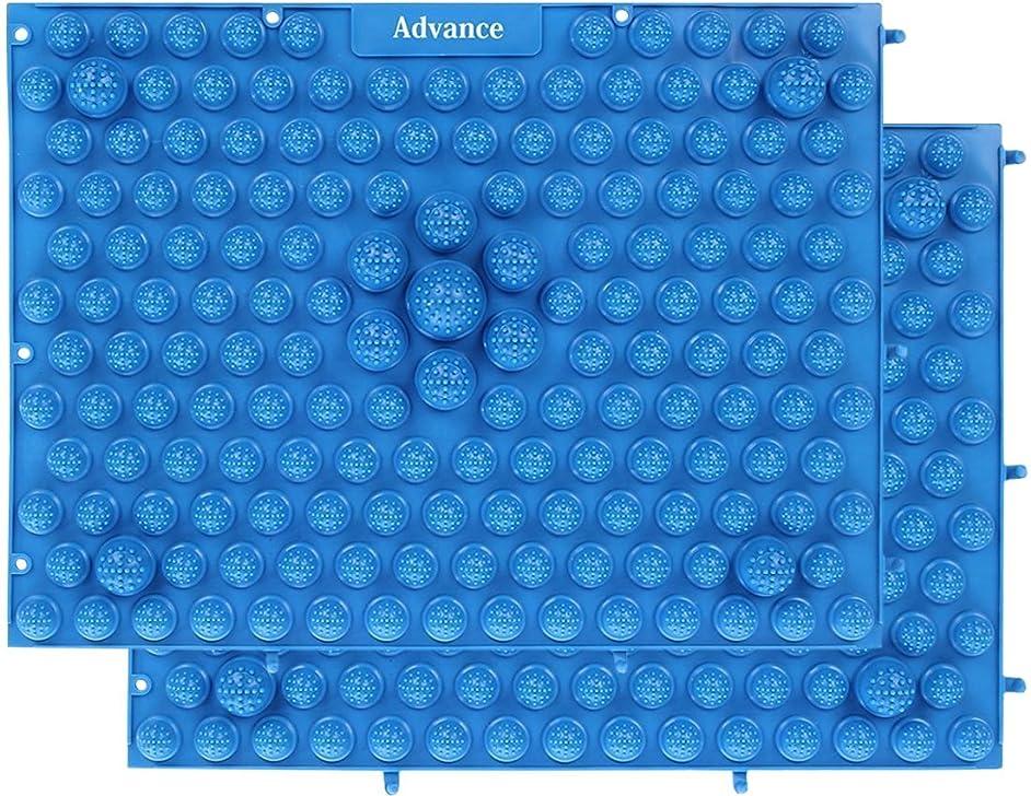 層理論非難する[OneStepAdvance] 足つぼ健康マット 足踏みマッサージ 37×27cm 2枚セット (ブルー)