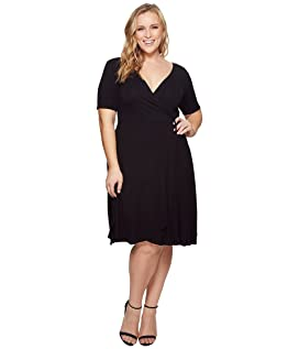 Plus Size Allison Faux Wrap Dress
