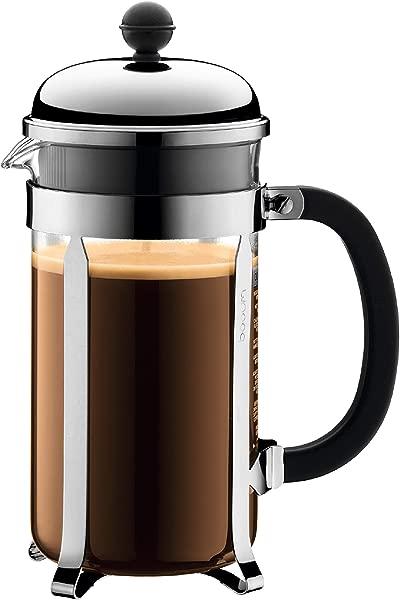Bodum Chambord French Press 咖啡机 1 升 34 盎司铬