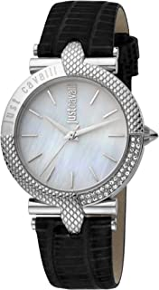 Just Cavalli Animalier Women's Mother of Pearl Dial Leather Analog Watch - JC1L105L0015