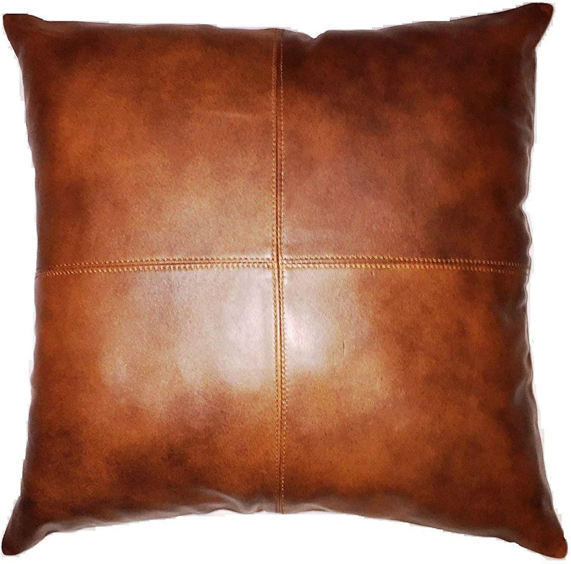 Leather Market 100% Lambskin Pillow Cover Sofa お得 ☆正規品新品未使用品 - Cushion