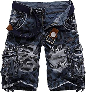 Beloved Mens Casual Cargo Shorts Slim Fit Outdoors Pocket Beach Work Trousers Short Pant