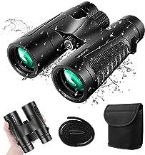 12x42 Roof Prism Binoculars for Adults, 2019 Latest Professional BAK4 HD Compact Binoculars with Clear Weak Light Night Vision, Waterproof Fogproof Binoculars for Bird Watching,Travel,Hunting| SGODDE
