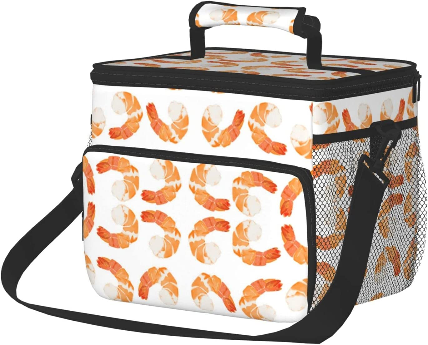 Large Insulated Lunch Box gift For Shrimp Men Women Reusable Excellence