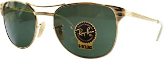 3429 001/M2 Gold RB3429 Signet Wayfarer Sunglasses Polarized Lens (55mm)