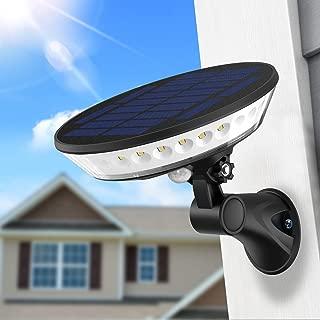 SYIHLON New Solar Lights Outdoor,3 Modes Wireless Solar Motion Sensor Light with 360° Illumination,80° Adjustable Wterproof Solar Wall Security Light for Garden Driveway Garage Gate Yard Deck