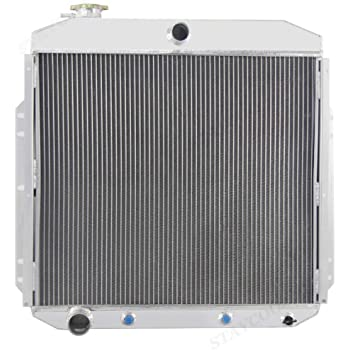 Primecooling 55MM 3 Row Core Aluminum Radiator for Ford F-100 F-250 F-350 Trucks w//Chevy GM V8 1953-56