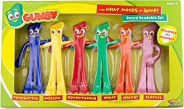 NJ Croce Many Moods of Gumby Boxed Set Toy, Multicolor, 8