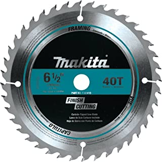 Makita T-01410 40T Fine Crosscutting Carbide-Tipped Saw Blade, 6-1/2