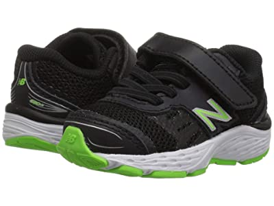New Balance Kids YA680v5 (Little Kid/Big Kid) (Black/RBG Green) Boys Shoes