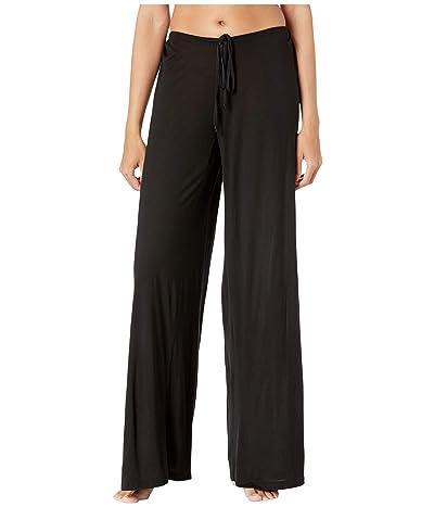 Hanky Panky Flirty Tenceltm Modal Wide Leg Pants (Black) Women