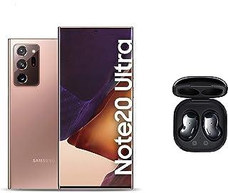 Samsung Galaxy Note20 Ultra Dual SIM, 256GB 12GB RAM 5G - Mystic Bronze + Galaxy Buds Live - Mystic Black