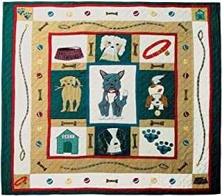 Patch Magic Twin Fido Quilt, 65-Inch by 85-Inch